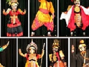 yakshagana costume, chande, makeup