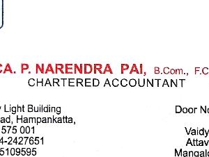 CA. P. Narendra Pai
